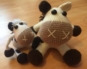 Mini Moo the Amigurumi Crochet Cow