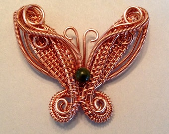 Wire Wrapped Tutorial: Butterfly Pendant