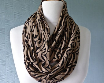 how to make a fabric snood scarf
