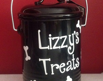 Personalized Pet Treat Canister