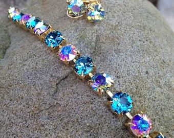 Swarovski bracelet/earring set