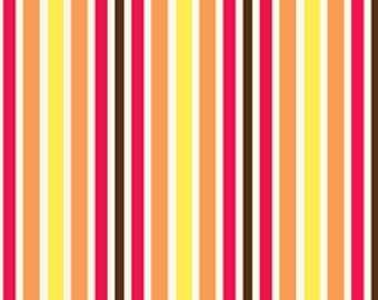 Sugar Blossom from Quilting Treasures Stripes in Bright Coordinating Colors - Listing is for 1 Yard  FM