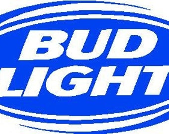 Bud Light Cornhole Decals (Set of 2)