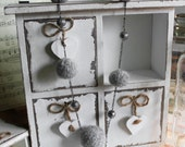 Necklace, Alpaca Wool, Felt Bead Jewelery Necklace Silver Alpaca Yarn, Hand-spun, hand knitted, wet-felted, handmade, unique