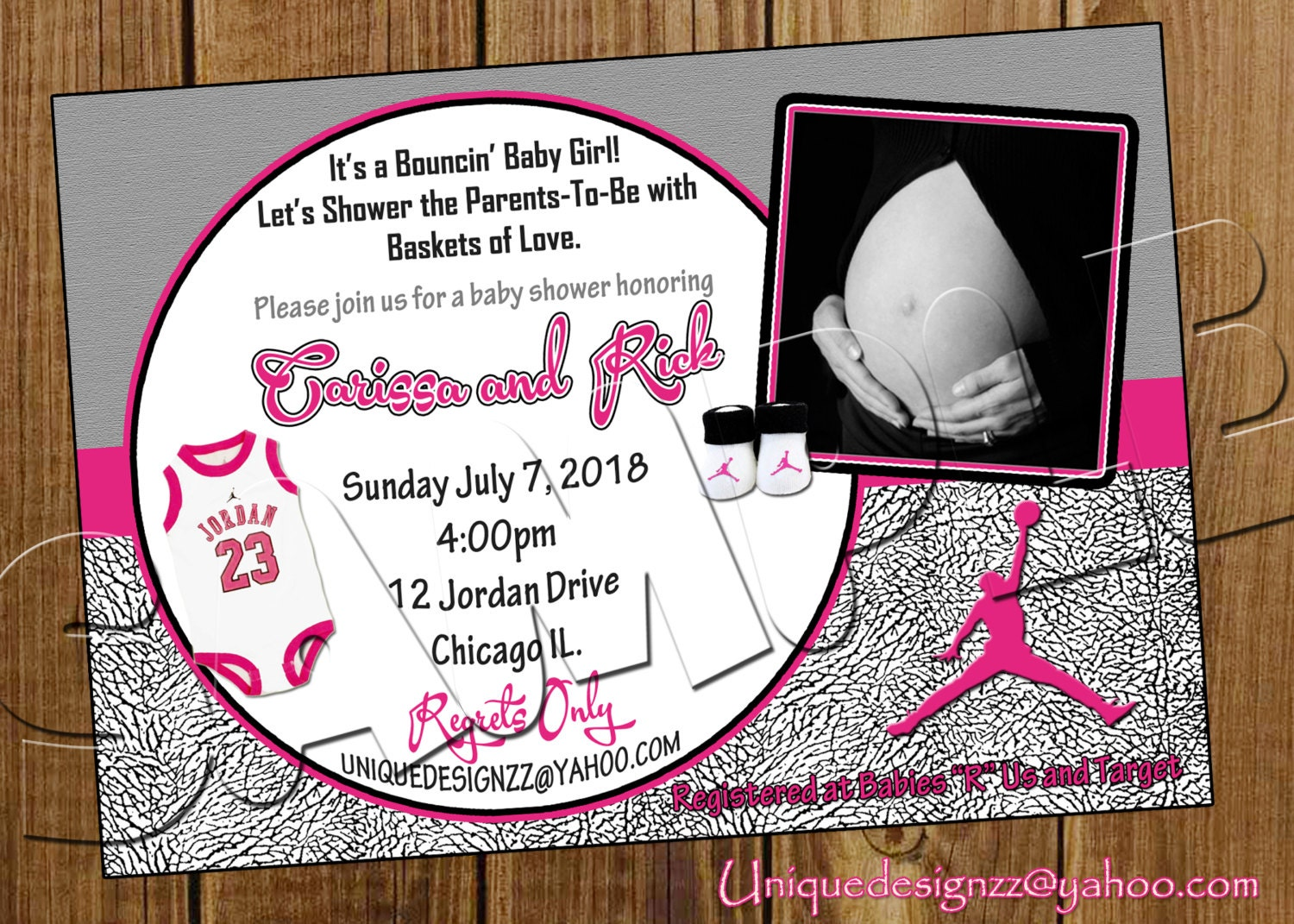 michael jordan basketball baby shower by uniquedesignzzz on etsy