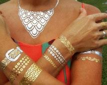 As Seen on Good Morning America MetallicTemporary Tattoos Jewelry, Gold Temporary Tattoos Bracelets, GMA Tattoo Jewelry, Metallic Tattoos,