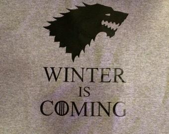 Game of Thrones Direwolf inspired tshirt