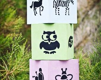 Wooden Animal Block Set