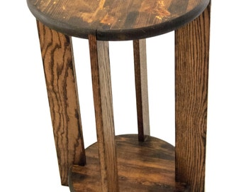 Full Round End Table