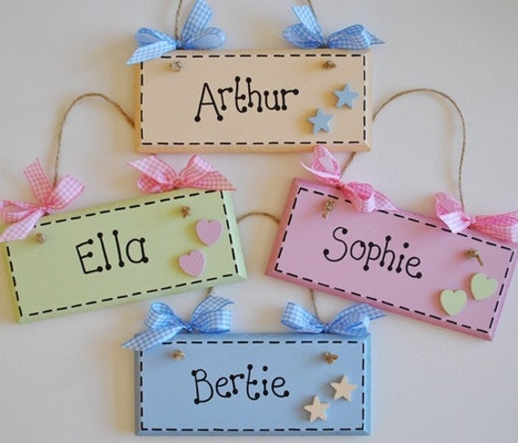 Items Similar To Personalised Plaques With Stars Or Hearts
