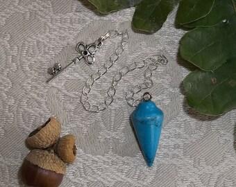 Turquonite Pendulum for Divination Magic- Turquoise Pendulum