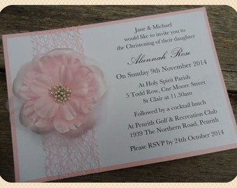 Rosie - Christening/Baptism Invitation