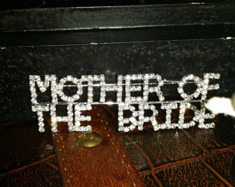 Mother of the Bride Brooch Gift with Pin Back