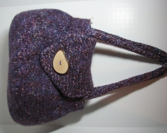 Hand knit and felted Linda purse.