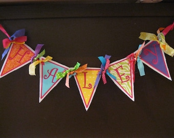 Fabric Banner (5 Letters)