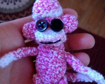 Mini Crocheted Sock Monkey (3 inches)