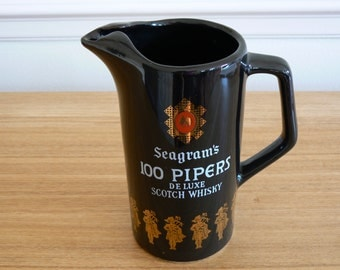 Seagrams 100 Pipers whisky Water Jug