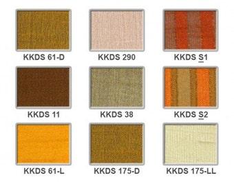 Dupion silk - yellows to browns