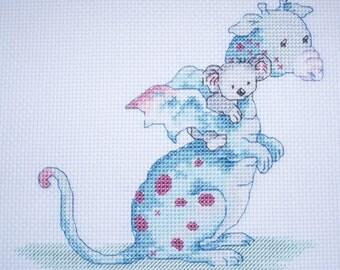 KL66 Dillon and Ko Counted Cross Stitch Kit - Dragon and Koala Bear