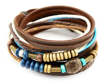 axy wrap bracelet TWIC13-4! Leather Bracelet