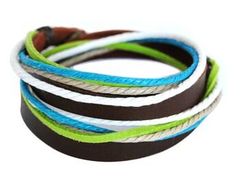 axy wrap bracelet TWIC6-2!  Leather Bracelet