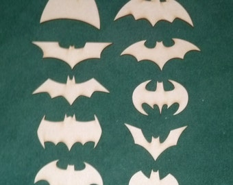 Batman evolution unfinished wood cutouts (14 pieces)