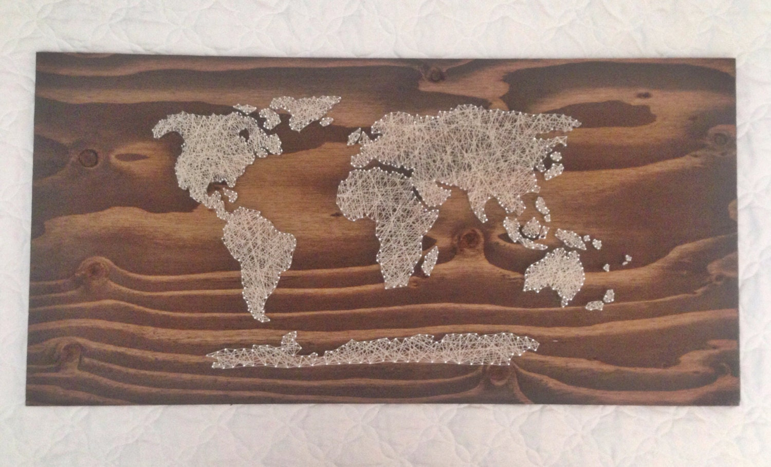 World Map String Art World Map String Art