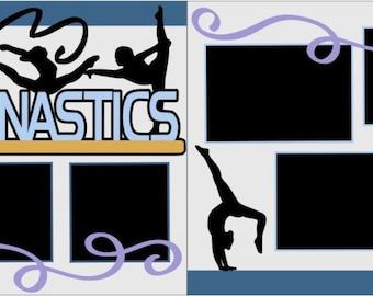 """Scrapbook 2 Page Kit """"Gymnastics"""""""