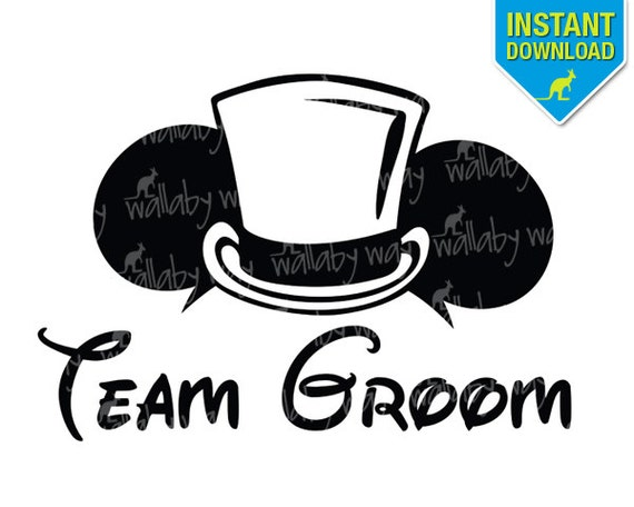 Disney Wedding Team Groom Mickey Ears Printable Iron On