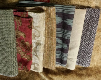 Set of Seven -  17in x 17 in upholstery squares -  Set A1