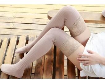 Khaki Womens Plus Size Thigh High Knit Socks Knit Socks Knee Socks Thigh High Socks Boot socks Lace Socks No1109