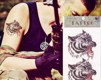 Popular items for wolf tattoo on Etsy