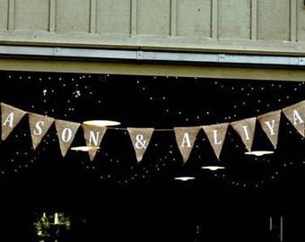 Customized Banner, Wedding Pennant Banner, Wedding Decoration, Bridal Shower, Photo Prop, Anniversary