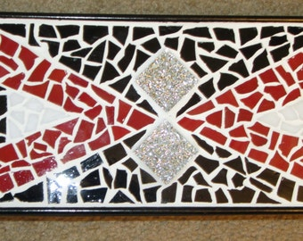 Red Eye  Mosaic Tabletop Decor/Re-purposed Candle Stand