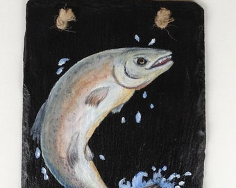 Salmon Slate Painting