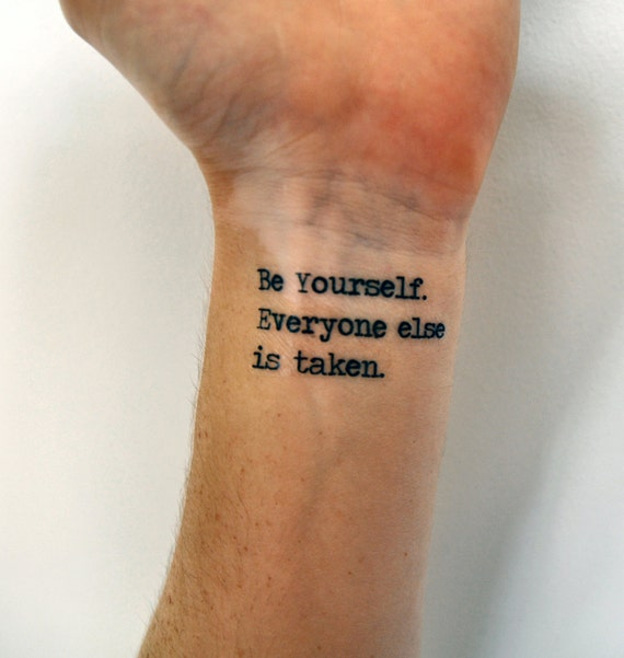 Individuality Quote Temporary Tattoo Oscar Wilde Be Yourself