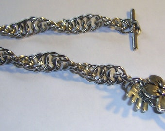 Stainless Steel twist with FlowerToggle Clasp