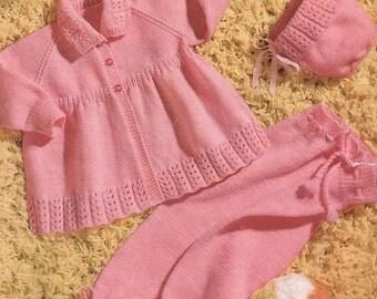 Baby Girl's Pram Set - Sirdar 3006