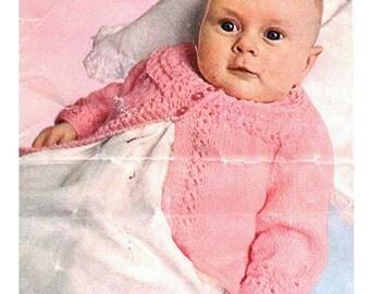Baby's Coat with Round Yoke - Patons 6004 2