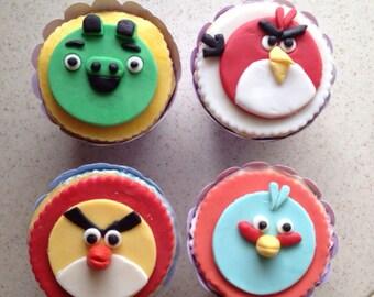 Fondant Angry Birds Etsy