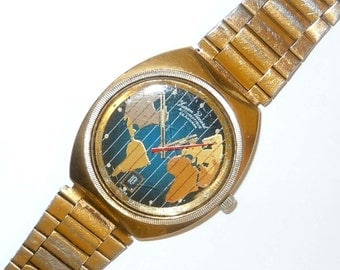 Lucien Piccard Seashark Worldtime Automatic Calendar Watch