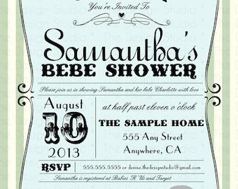 Cirque De Bebe Baby Shower Invitation