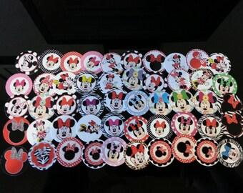 45 Minnie Mouse Precut bottlecap images