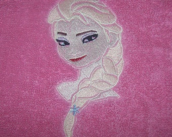 Personalised embroidered  Elsa  bath towel (100% cotton)