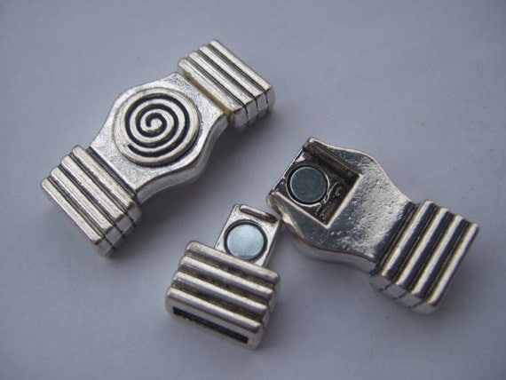 Flat leather clasp spiral magnetic clasp for 5mm 10mm flat leather
