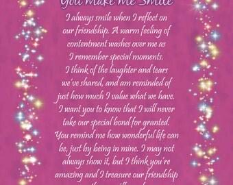 You Make Me Smile - Gift Card