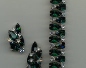 Exceptional 1950s Kramer of New York Bracelet and Earrings Set