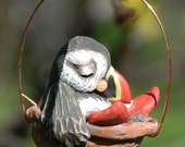 sleeping puffin ornament