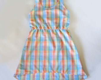 Quick Dry Camping Dress Pastel Plaid Small