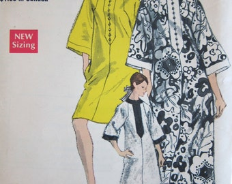 60s Vogue 7295 Caftan Dress Vintage Sewing Pattern 1960s Kaftan Small